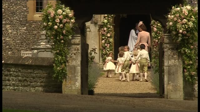 arrivals arrivals unidentified guests arriving at church/ princess eugenie and boyfriend arrival / catherine duchess of cambridge arrival at church... - bridesmaid stock videos and b-roll footage