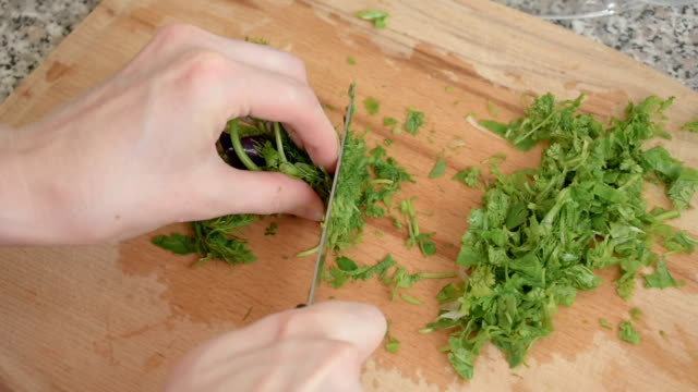 piquant herbs for salad, close up - parsley stock videos and b-roll footage