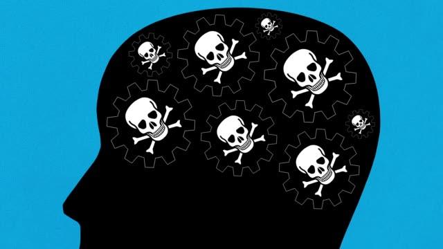 piraterie-gedanken - männliche figur stock-videos und b-roll-filmmaterial