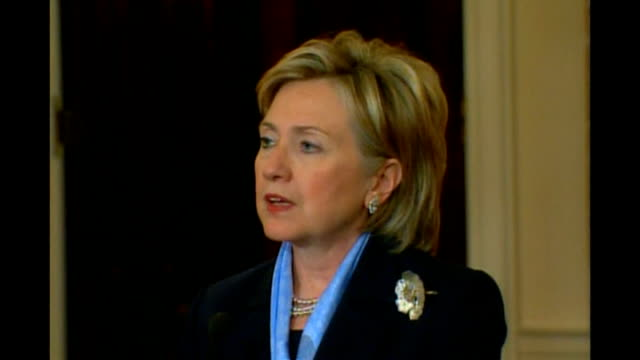 US captain recaptured by hostagetakers after attempted escape USA Washington DC INT Hillary Clinton press conference SOT