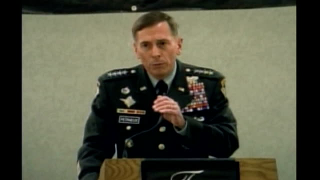 US captain recaptured by hostagetakers after attempted escape USA INT General David Petraeus press conference SOT