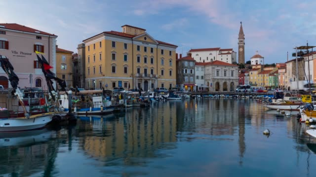 piran harboor - slovenia stock videos & royalty-free footage