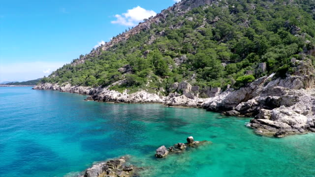 pirate beach from oludeniz. - fethiye stock videos and b-roll footage