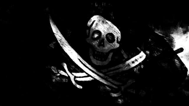 Pirate flag - loop