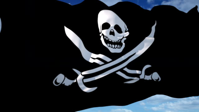 pirate flag - dagger stock videos & royalty-free footage