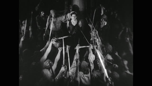 pirate (douglas fairbanks) is brought in front of a jury of his pirate peers - juror stock videos & royalty-free footage