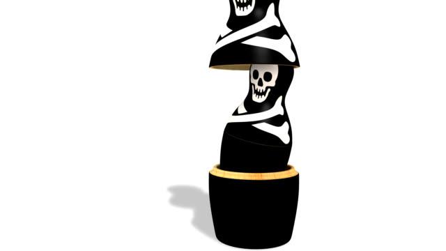 海賊 matrioska シリーズのロシアの人形 - other点の映像素材/bロール