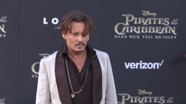 clean pirates of the caribbean dead men tell no tales premiere in los angeles ca - johnny depp stock videos & royalty-free footage