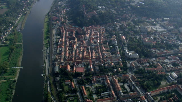 Pirna From South  - Aerial View - Saxony,  Germany