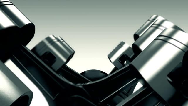 piston and crank animation move - piston stock videos & royalty-free footage