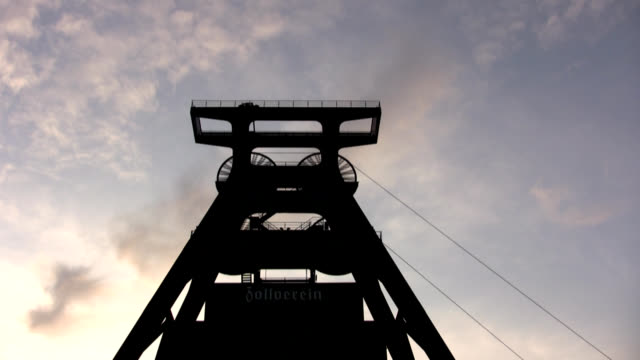 pit head frame with fast weels - ruhr stock videos & royalty-free footage