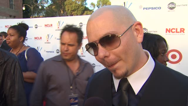 pitbull on the importance of the alma awards at the 2009 alma awards at westwood los angeles ca - alma awards stock videos and b-roll footage