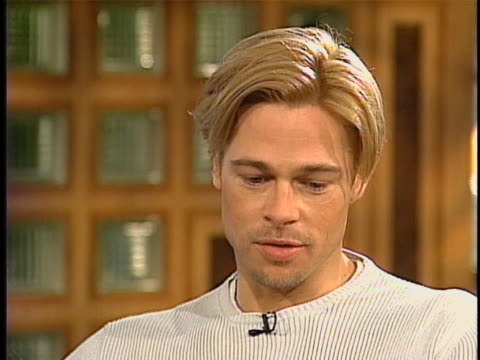 pitt interview in studio - brad pitt actor stock videos & royalty-free footage