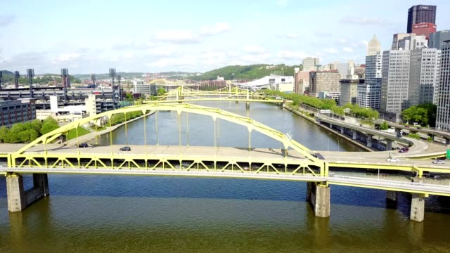pittsburgh pa brigde sweep - pennsylvania stock videos and b-roll footage