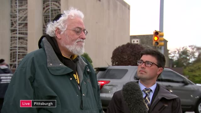 Suspect charged with murder LIVE USA Pennsylvania Pittsburgh Squirrel Hill EXT Rabbi Chuck Diamond and Corey O'Connor interview SOT