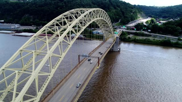pittsburgh: west end bridge over the ohio river - pennsylvania stock videos and b-roll footage