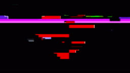 Pixel Heart Digital Glitch Animation