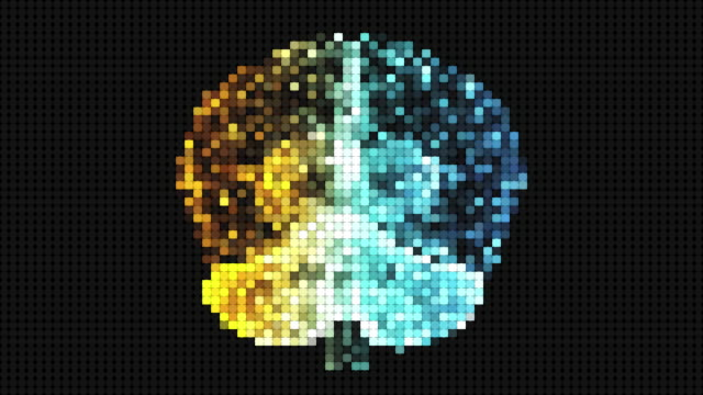pixelated brain - genius stock videos & royalty-free footage