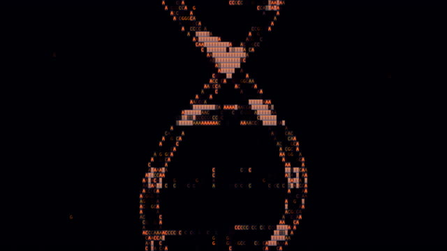 pixelated dna - helix model stock videos & royalty-free footage