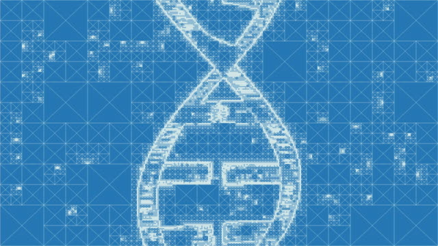 pixelated dna - helix model stock videos and b-roll footage