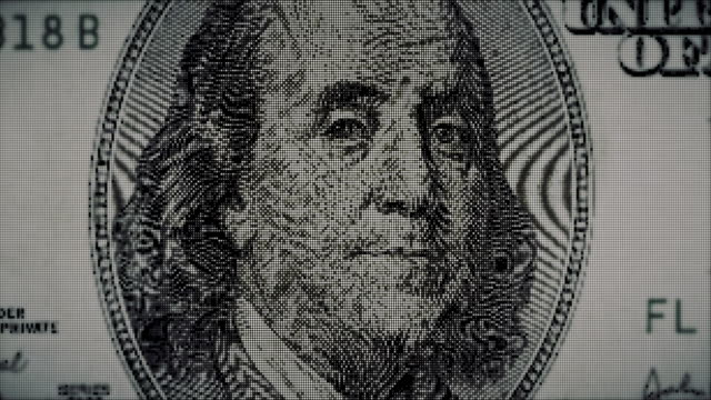 pixelated dollar bill currency - dissolving stock videos & royalty-free footage