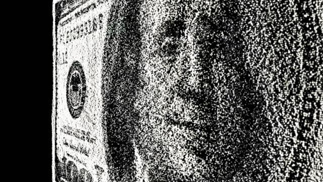 pixelig dollar bill währung - dollarsymbol stock-videos und b-roll-filmmaterial