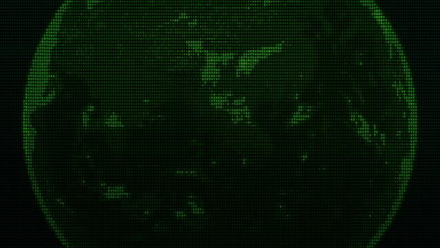 vídeos y material grabado en eventos de stock de tierra de pixelado - espacio y astronomía