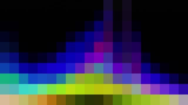 Pixelated RGB Spectrum on Black Background