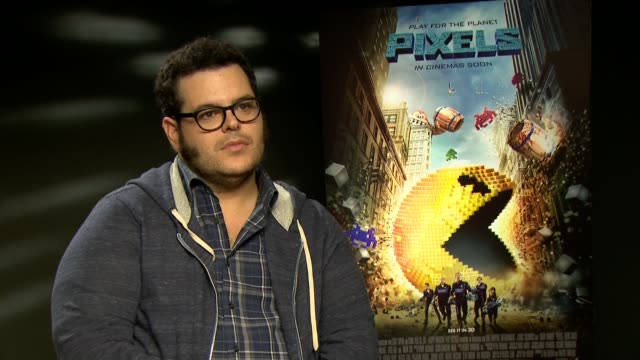 josh gad interview england london int josh gad interview sot on pixels film / working with director chris columbus and adam sandler - adam sandler stock videos & royalty-free footage