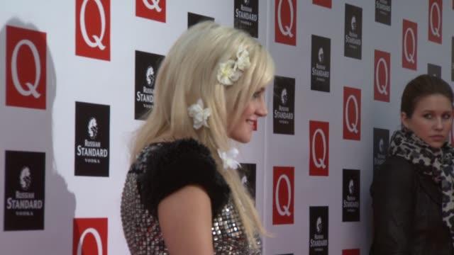 vidéos et rushes de pixie lott at the q awards arrivals at london england. - pixie lott