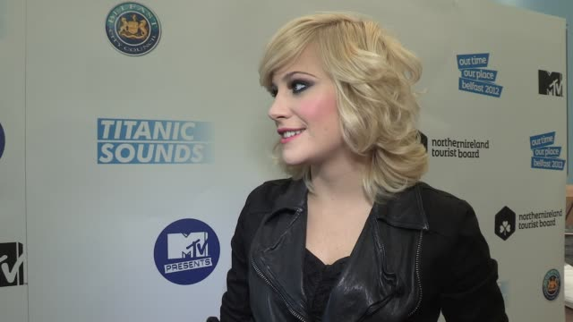 pixie lott on her performance belfast titanic festivals and more - titanic belfast stock videos & royalty-free footage