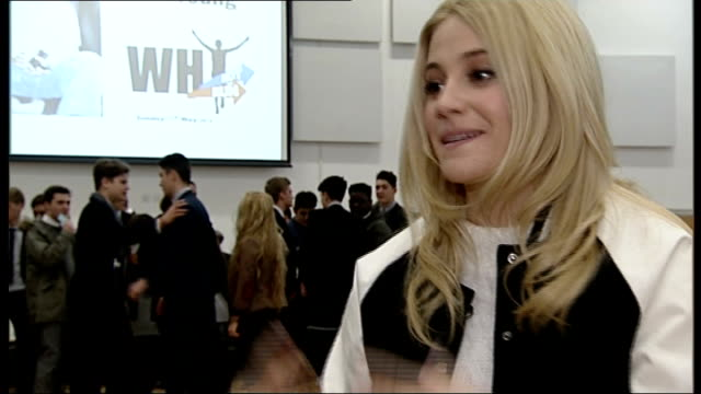 pixie lott visits bromley school to promote cardiac screening in young people; lott interview sot **lott interview overlaid sot** back view paul... - paul daniels stock videos & royalty-free footage