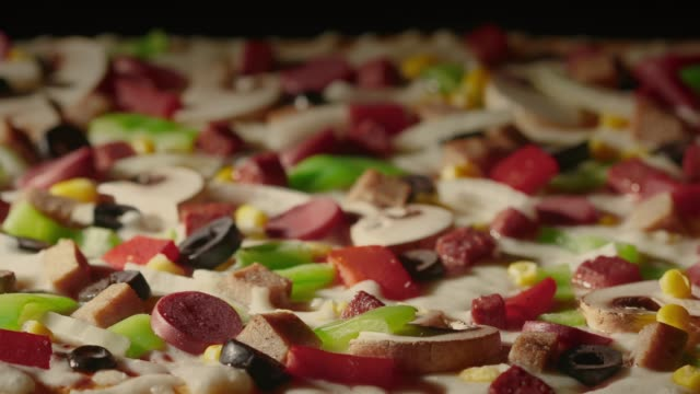 pizza baking in time lapse - pizza oven stock videos and b-roll footage