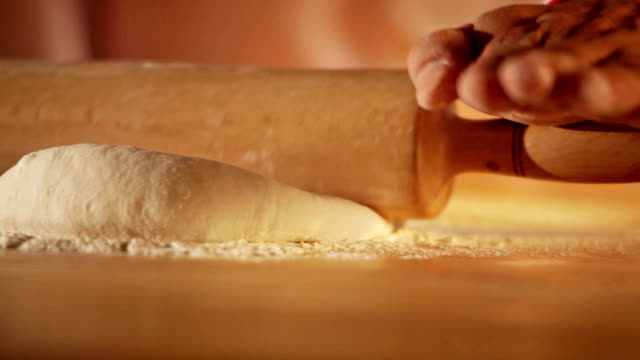 pizza chef kneading dough - kneading stock videos and b-roll footage