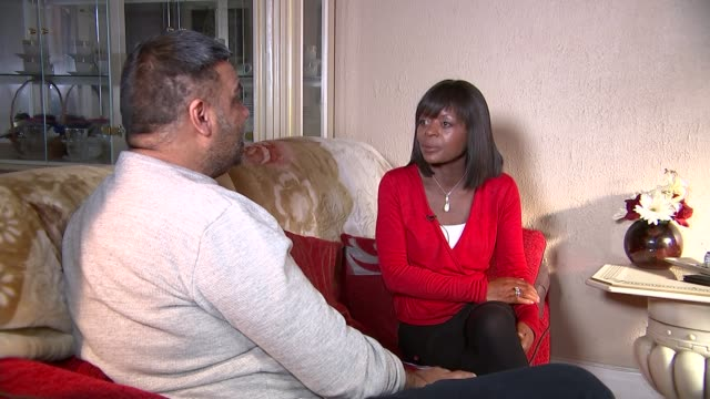 Pizza delivery driver scarred for life by acid attack London INT Imrah Khan setup shots and interview SOT CUTAWAY reporter