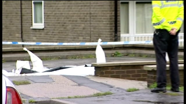 pizza delivery man stabbed to death in sheffield on final delivery general view of domino's pizza restaurant police tape cordon and police officer... - south yorkshire stock videos and b-roll footage