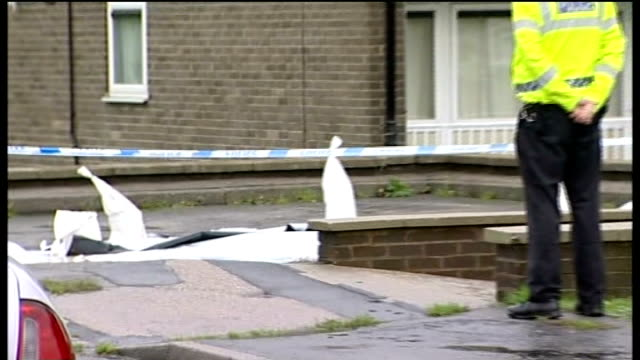 pizza delivery man stabbed to death in sheffield on final delivery day general view of domino's pizza restaurant police tape cordon and police... - south yorkshire stock videos and b-roll footage