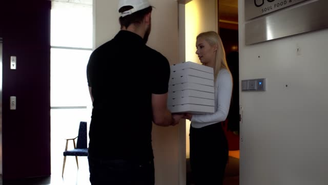 pizza delivery - now open stock videos & royalty-free footage