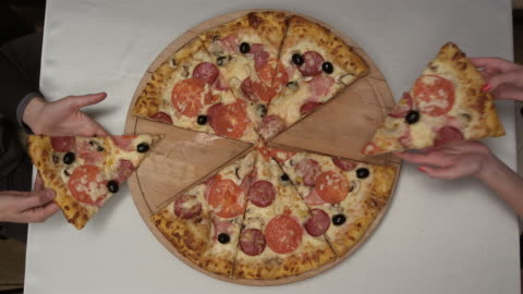 pizza from the top - pizza stock videos & royalty-free footage