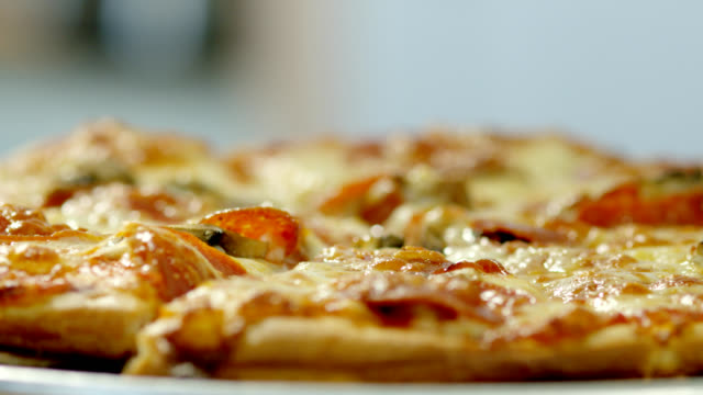 pizza pie - slice stock videos and b-roll footage