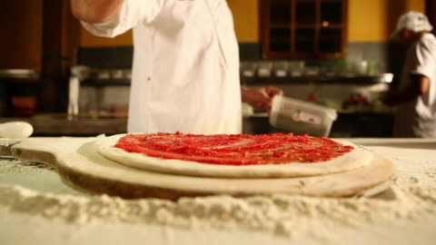 ms r/f pizza preparation typical food / sao paulo, brazil - 1 minute or greater stock videos & royalty-free footage