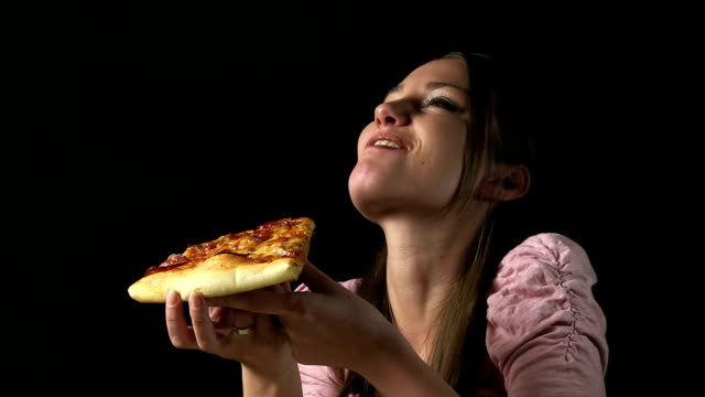 pizza slice - indulgence stock videos and b-roll footage