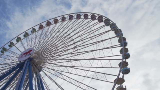 place bellecour ferris wheel in the city centre of lyon, rhone-alpes, france, europe - rhone alpes stock videos & royalty-free footage