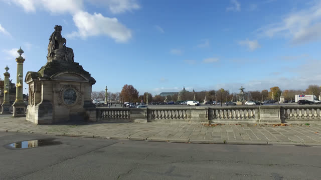 place de la concorde in paris, france. france has imposed another national lockdown for a minimum of four weeks as the number of coronavirus cases... - cityscape stock videos & royalty-free footage