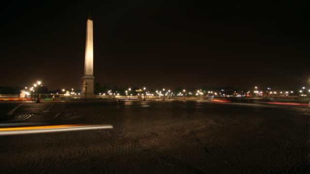 Place de la Concorde - night time lapse 4K