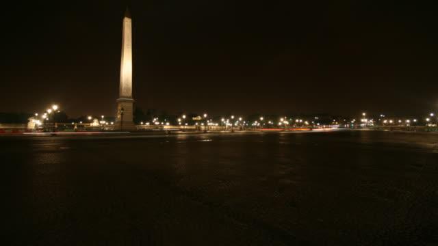 Place de la Concorde à la nuit en accéléré