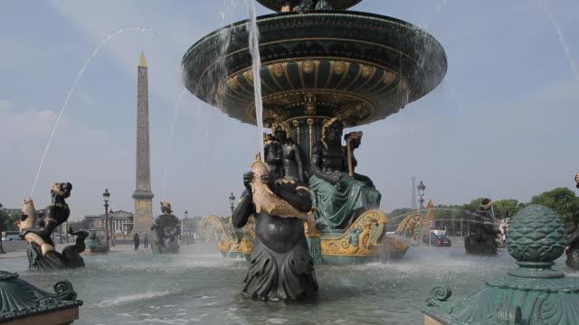 place de la concorde, paris, france, europe - obelisk of luxor stock videos & royalty-free footage