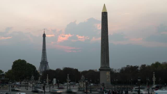 Place de la Concorde, Paris,Time lapse.