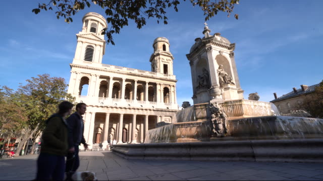 vidéos et rushes de place saint-sulpice - église