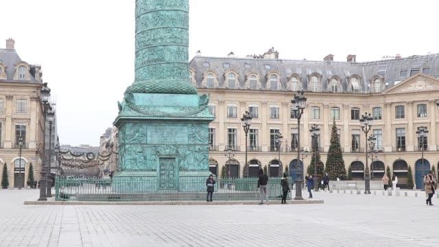 place vendôme - place vendome stock videos & royalty-free footage